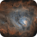 The Lagoon Nebula in HOO,                                Alex Roberts