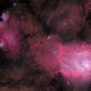 M8 Lagoon Nebula & NGC 6559, IC 1274, 4684, 4685,                                Pete Bouras