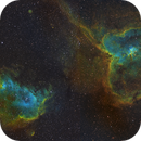 IC1805 and IC1848 two pane mosaic in HST palette,                                Gordon Haynes