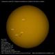 Sol con Celestron C8-A XLT 20150504,                                Juan A. Navarro