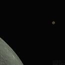 Conjunction Mars Moon, october 2020,                                Jonas Aliotti Jr