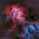 The Lion Nebula, Sh2-132, In Narrowband Bi-Color,                                mlewis