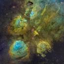 Cat's Paw Nebula -- NGC 6334,                                Miles Zhou