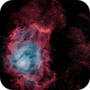 M8, Lagoon Nebula, In Narrowband Bi-color,                                mlewis