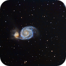 Whirlpool Galaxy and companion,                                Jamee Donithan