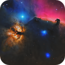 Horsehead and Flame nebulae,                                equinoxx