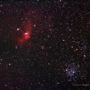 NGC7635 Bubble Nebula and M52 Salt & Pepper Open Cluster,                                NewLightObservatory
