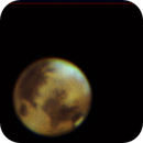 Mars, partly covered by carbonic ice clouds,                                Didier FOURNIL