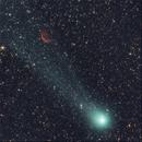 C/2014 Q2 Lovejoy and Sh2-188 Dolphin Nebula,                                Adriano Valvasori