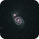 M51, NGC 5194 - Whirlpool Galaxy,                                Alan Hobbs