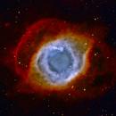 Helix Nebula NGC7293 HOO with RGB stars,                                Ben