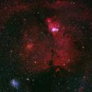 NGC 2264 (Christmas Tree Cluster & Cone Nebula), IC 2169 -- Nikon D5300 & 200 mm Telephoto lens,                                Nick Large