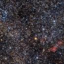 NGC 6249 and Gum 54/Lynga 14 + red cotton balls (RCW 110 and 111).,                                Claudio Tenreiro