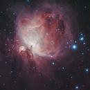M42 The Orion Nebula with M43 De Mairan's Nebula and Sh2-279 The Running Man Nebula,                                Clinton Boyd