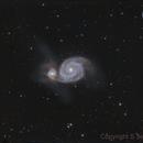 M51 The Whirlpool Galaxy HaRGB,                                Stephen Jennette