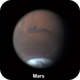 Mars and the cleft in its South Polar Cap,                                Niall MacNeill