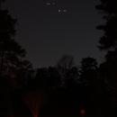 Jupiter and Saturn: Sunday 12-6-2020 18:00 hours,                                Van H. McComas
