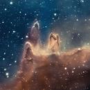 Nebulous region in the Soul Nebula,                                Mike