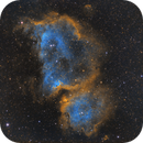 IC 1848 - The Soul Nebula in SHO Hubble Palette,                                JohnAdastra