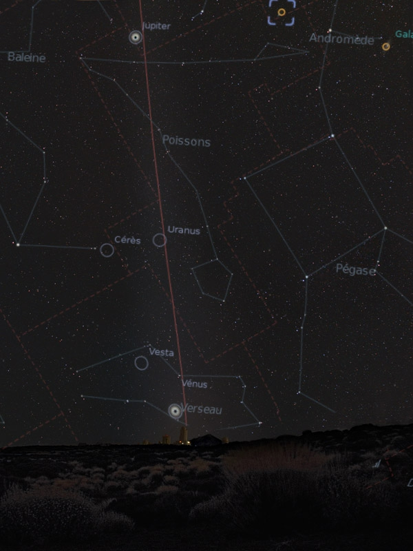 Zodiacal light annotated,                                OrionRider