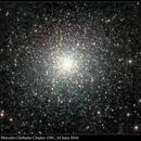 M13, Great Hercules Globular Cluster, OSC, 24 June 2016,                                David Dearden