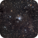 NGC 7129 with Open Cluster NGC 7142, LDN 1181 and LDN 1183 - 2021 Edit,                                pmneo