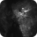 Eta Carinae nebula in Ha with linear stretch - no processing,                                Freestar8n