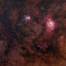 Lagoon and Triffid nebula area,                                tornado33