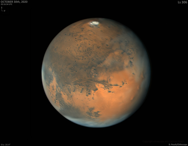 Mars/ October 30  2020. Very good seeing,                                chilescope