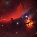 IC 434 Horsehead and Flaming Nebulae,                                Jim