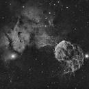JellyFish Nebula..A Work in Progress,                                Bob J