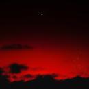 Venus and Pleiades at sunset 25 April 2018,                                Ray Caro