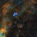 Crescent Nebula - HST pallet,                                KC