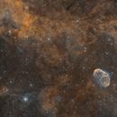 NGC 6888 Crescent Nebula, Soap Bubble Nebula PN G75.5+1.7, and Surrounding Nebulosity HOO Rasa8,                                Brandon Tackett