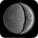 Earthshine and 27% Crescent Moon composition ,                                Łukasz Sujka