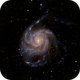 Re-worked M101 - The Pinwheel Galaxy,                                Burk Young