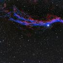 NGC6960 Western Veil in HORGB,                                Greg Watkins