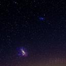 Magellanic Clouds Over City Glow,                                Ryan Shaw