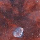NGC 6888 Crescent Nebula and Soap Bubble (HOO),                                Chad Andrist