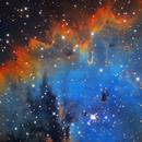 NGC 281 (Pac-Man Nebula) narrowband,                                remidone