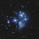 L'amas ouvert des Pléiades dans la constellation du Taureau,                                Didier SPREUTELS