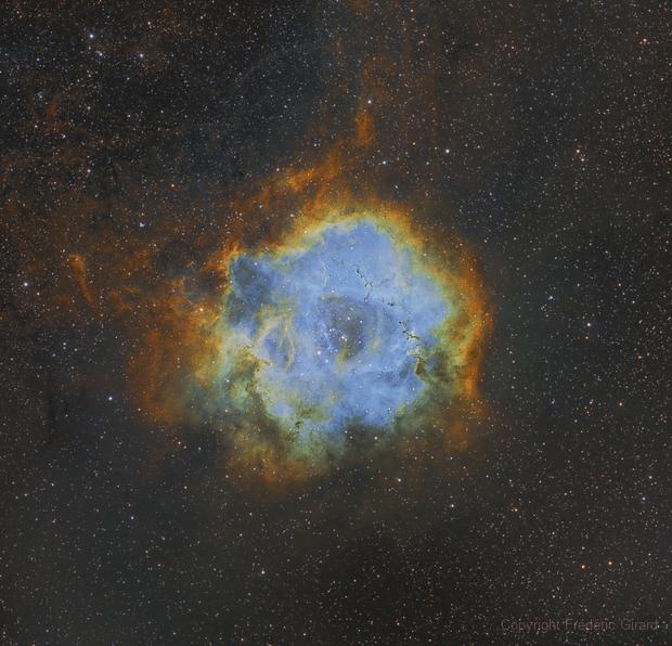 NGC 2244 - Nébuleuse de la Rosette,                                Frédéric Girard