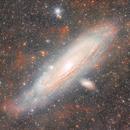 Messier 31 ultra deep version,                                Giuseppe Donatiello
