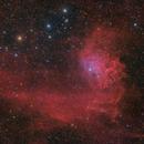"The ""Flaming Star Nebula"" IC 405 in LRGBHa,                                Stefan-Harry-Thrun"