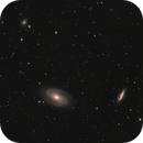 Messier 81 (Bode's Galaxy), Messier 82 (Cigar Galaxy) and NGC 3077,                                Andy Rattler Brown