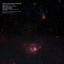 Messier 8/20/21 Region in Sagittarius (Mosaic),                                MJF_Memorial_Observatory