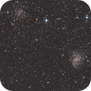 Ngc 6946 The Fireworks Galaxy and Ngc 6939 an Open Cluster,                                Vlaams59