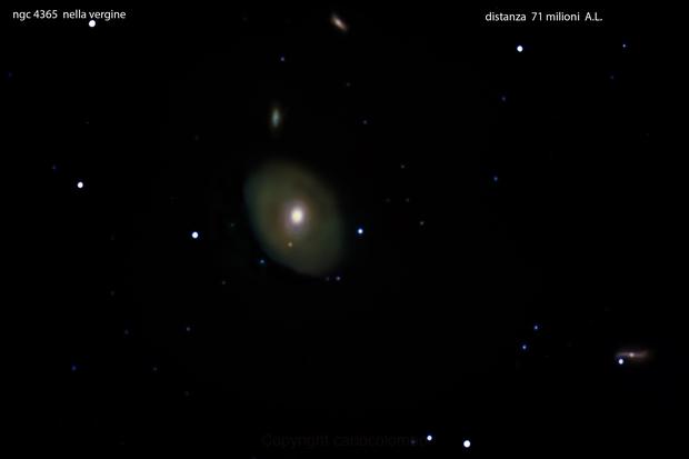 ngc 4365 galassia nella vergine       distanza 71 milioni  A.L.,                                Carlo Colombo