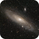 M31 Andromeda galaxy (livestacking with Sharpcap; 8 sec. frames),                                Doc_HighCo