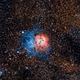 Trifid Nebula,                                Hockeyscope